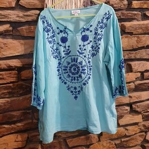 Size 16 Millers blue 3/4 sleeve top